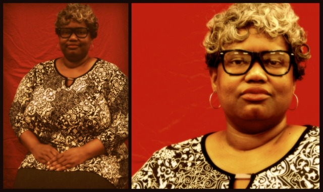 Lyn Artope in character as poet Lucille Clifton